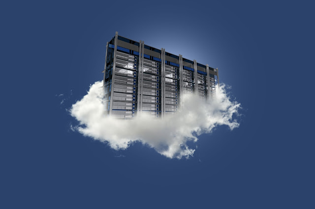 Cloud-based storage is usually an array of hard discs connected to a high-speed Internet channel