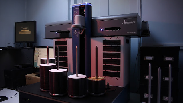 Professional disc duplicators may fully automate the process