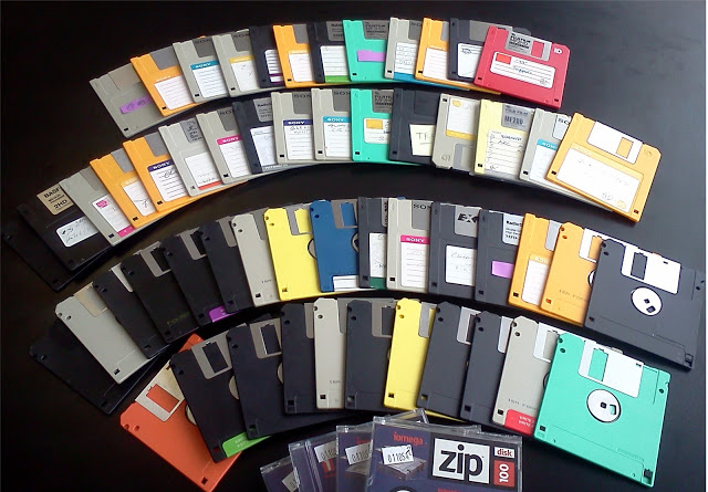 Old floppy discs may still be a source of important evidences of the old cases