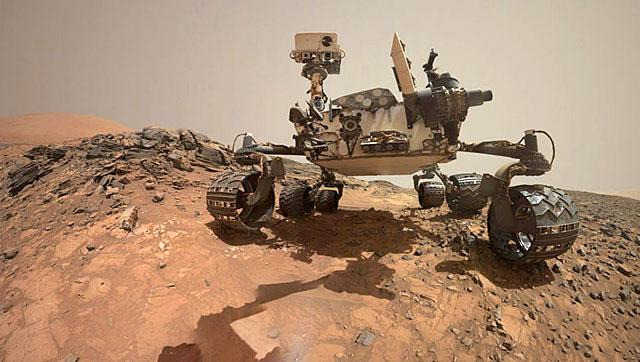 NASA's Curiosity Rover on the surface of Mars